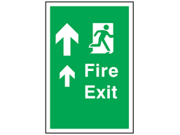 Fire exit safety floor symbol and text sign