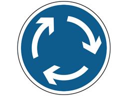 Mini roundabout sign