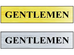 Gentlemen public area sign