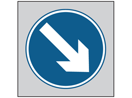 Keep right roll up road sign