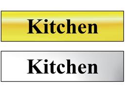 Kitchen metal doorplate