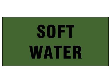 Soft water pipeline identification tape.