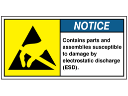 Contains parts and assemblies label
