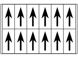 Multipurpose arrow labels, 56mm x 21mm