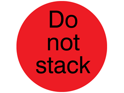 Do not stack packaging label