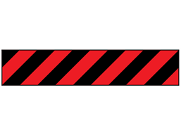 Black and red striped flagging tape
