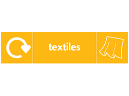 Textiles WRAP recycling signs