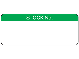 Stock number label