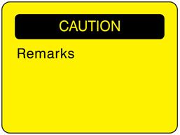 Caution fluorescent label