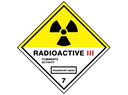 Radioactive 111 7 hazard warning diamond sign