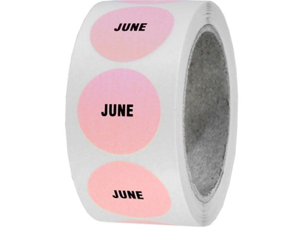 June inventory date label