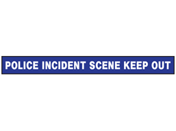 Police incident scene, keep out barrier tape