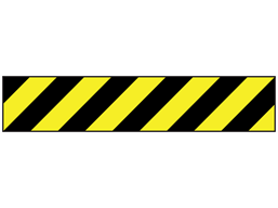 Anti-slip tape, black and yellow chevron