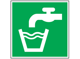 Drinking water symbol safety sign.