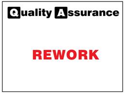 Rework quality assurance label.