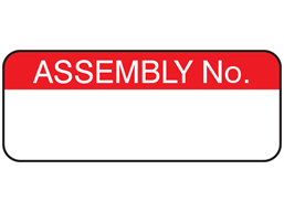 Assembly number maintenance label.