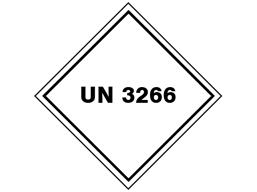 UN 3266 (Corrosive liquid, basic, inorganic) label.