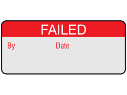Failed aluminium foil labels.