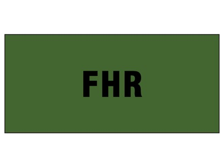 FHR pipeline identification tape.