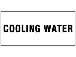 Cooling water pipeline identification label