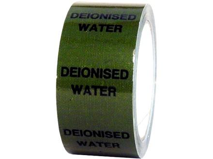 De-ionised water pipeline identification tape.