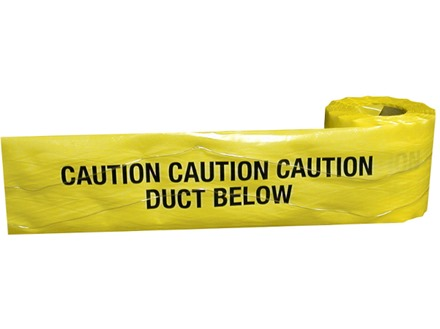 Caution duct below tape.