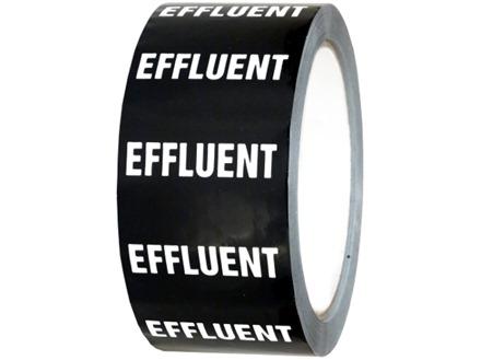 Effluent pipeline identification tape.