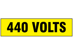 440 Volts label