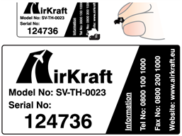 Assetmark destructible serial number label (logo / full design), 38mm x 76mm
