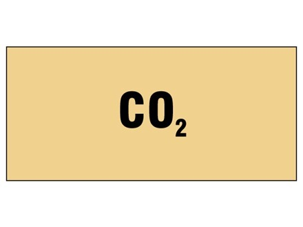 CO2 pipeline identification tape.