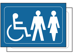 Disabled/Gentlemen/Ladies symbol sign.