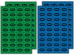 Multipurpose number set, 19mm x 14mm