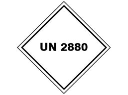 UN 2880 (Calcium hypochlorite) label.