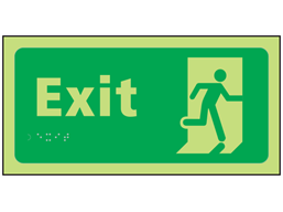 Exit photoluminescent sign.