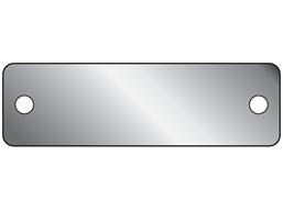 Blank aluminium nameplate, 15mm x 50mm