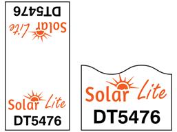 Assetmark cable wrap serial number label (full design), 100mm x 50mm