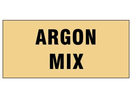 Argon mix pipeline identification tape.