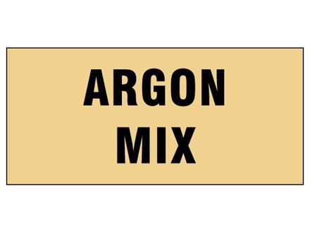 Argon mix pipeline identification tape.