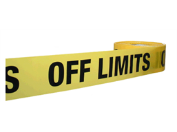 Off limits barrier tape