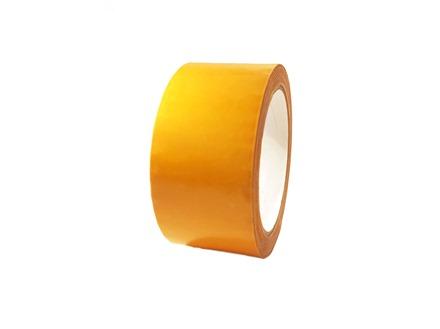 Plain golden yellow pipeline identification tape.