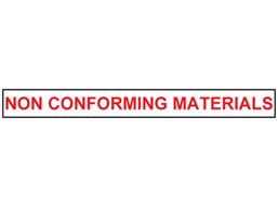 Non conforming material tape