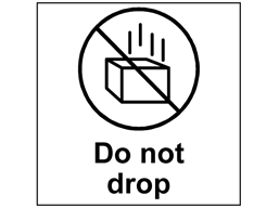 Do not drop heavy duty packaging label