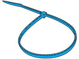 Plain nylon cable ties, blue