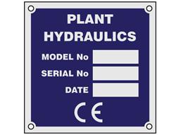 Anodised Aluminium Nameplate (Single Colour), 73mm x 73mm.