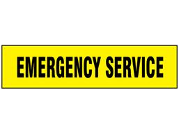 Emergency Service label