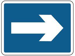 Right only sign