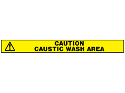 Caution, caustic wash area barrier tape
