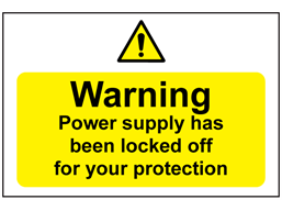 Warning Power Supply Has Been Switched Off Sign Les321