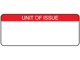 Unit of issue label