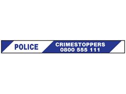 Police, crimestoppers 0800 555 111 barrier tape
